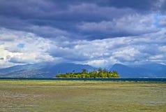 Motu is a small island. Stock Image