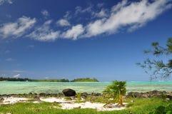 Motu Taakoka - Rarotonga, consoles de cozinheiro Imagens de Stock Royalty Free