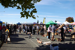 MOTUEKA, NEW ZEALAND - 04 JUNE 2017: Morning market at Motueka. On Sunday Royalty Free Stock Images