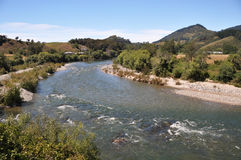 Motueka River Rapids, New Zealand Royalty Free Stock Photography