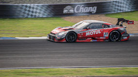 MOTUL AUTECH GT-r di NISMO nelle corse GT500 a Burirum, Tailandia 2 Fotografie Stock Libere da Diritti