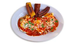 Motulenos eggs breakfast of Mexico. In Riviera Maya Stock Photo