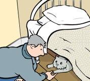 Motvillig katt stock illustrationer