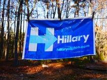 Motvind för Hillary Clinton ` s och vad kan komma ut i washen Royaltyfri Fotografi