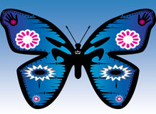 Motyl 2. Buterfly made in photoshop by thinking of peace and people and nature Stock Image