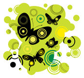 motyl abstrakcyjne Obrazy Royalty Free