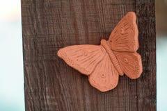 motyl ceramiczny fotografia stock