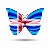 Motyl chorągwiany Iceland Zdjęcia Royalty Free