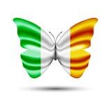 Motyl chorągwiany Ireland Zdjęcie Stock