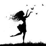 motyl dziewczyna ilustracja wektor