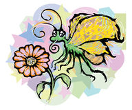 Motyl i kwiat Obraz Stock