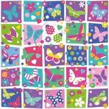 Motyl kolekci wzór Obrazy Stock