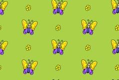 Motyl kreskówki bezszwowy wzór Wektorowy motyla wzór bezszwowy abstrakcyjne tło Fotografia Royalty Free