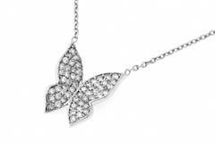Motyl kształtna diamentowa kolia. Obrazy Stock