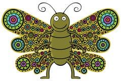 Motyl które kolorowych skrzydła ilustracja wektor