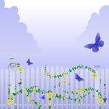 motyl róże Obrazy Stock