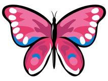 motyl różowy ilustracja wektor