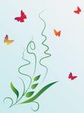 motyl rośliny royalty ilustracja