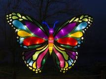 Motyl robić od papieru i świateł Obraz Royalty Free