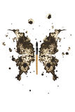 Motyl robić czarny atrament Fotografia Stock