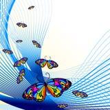 motyl tła abstrakcyjne royalty ilustracja