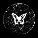 Motyl w okrąg ilustraci eps10 wektorowym jpg Fotografia Royalty Free