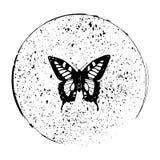Motyl w okrąg ilustraci eps10 wektorowym jpg Zdjęcie Stock