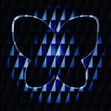 Motyl z błękitnymi i cyan kleksami ilustracja wektor