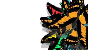 Motyl z czerni skrzydłami, pomarańcze wzory royalty ilustracja