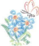 Motyl z kwiatem Zdjęcie Stock