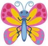 Motyl z różowymi skrzydłami ilustracja wektor
