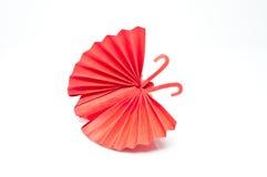 Motyla czerwony papier Ilustracja Wektor