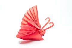Motyla czerwony papier Royalty Ilustracja