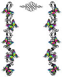 motyla graniczny zaproszenie szablonu Zdjęcia Royalty Free