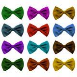 motyla krawat kolorowy ustalony Zdjęcia Stock