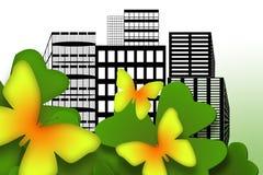 motyla miasto ilustracja wektor