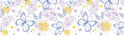 Motyla ogrodowy horyzontalny bezszwowy wzór royalty ilustracja