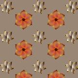 motyla opadowy kwiecisty kwiatów serca wzoru kolor żółty ilustracji