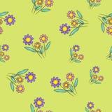 motyla opadowy kwiecisty kwiatów serca wzoru kolor żółty Zdjęcie Royalty Free
