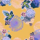 motyla opadowy kwiecisty kwiatów serca wzoru kolor żółty Obrazy Royalty Free