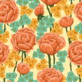 motyla opadowy kwiecisty kwiatów serca wzoru kolor żółty Obraz Stock