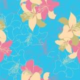 motyla opadowy kwiecisty kwiatów serca wzoru kolor żółty Zdjęcia Royalty Free