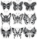 Motyla set Obraz Stock