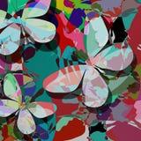 Motyle abstrakcjonistyczni Zdjęcie Royalty Free