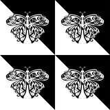 Motyle czarny i biały ilustracja wektor