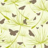 motyle deseniują bezszwowego Tło z motylami i dandelion ziarnami również zwrócić corel ilustracji wektora royalty ilustracja