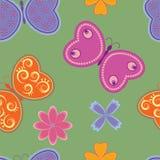 motyle deseniują bezszwowego Fotografia Stock