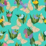 motyle deseniują bezszwowego royalty ilustracja