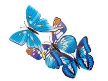 Motyle izolują majcherów Fotografia Stock