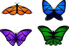 motyle kolorowi Zdjęcia Royalty Free